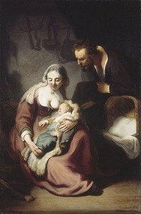 Rembrandt, Die Heilige Familie, 1633-35