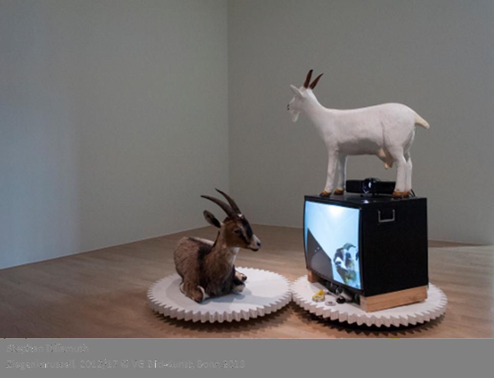 Stephan Dillemuth, Ziegenkarussell, 2012/2018, Foto: Lenbachhaus © VG Bild-Kunst Bonn, 2018