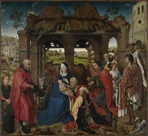 Rogier van der Weyden, Columba-Altar: Anbetung der Könige, um 1455