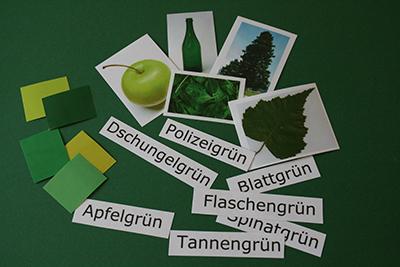 Didaktische Materialien unterstützen die Wortschatzarbeit im Museum. © Museumspädagogisches Zentrum, München