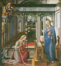 Fra Filippo Lippi, Verkündigung Mariae, um 1450