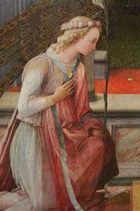 Ausschnitt aus: Fra Filippo Lippi, Verkündigung Mariae, um 1450