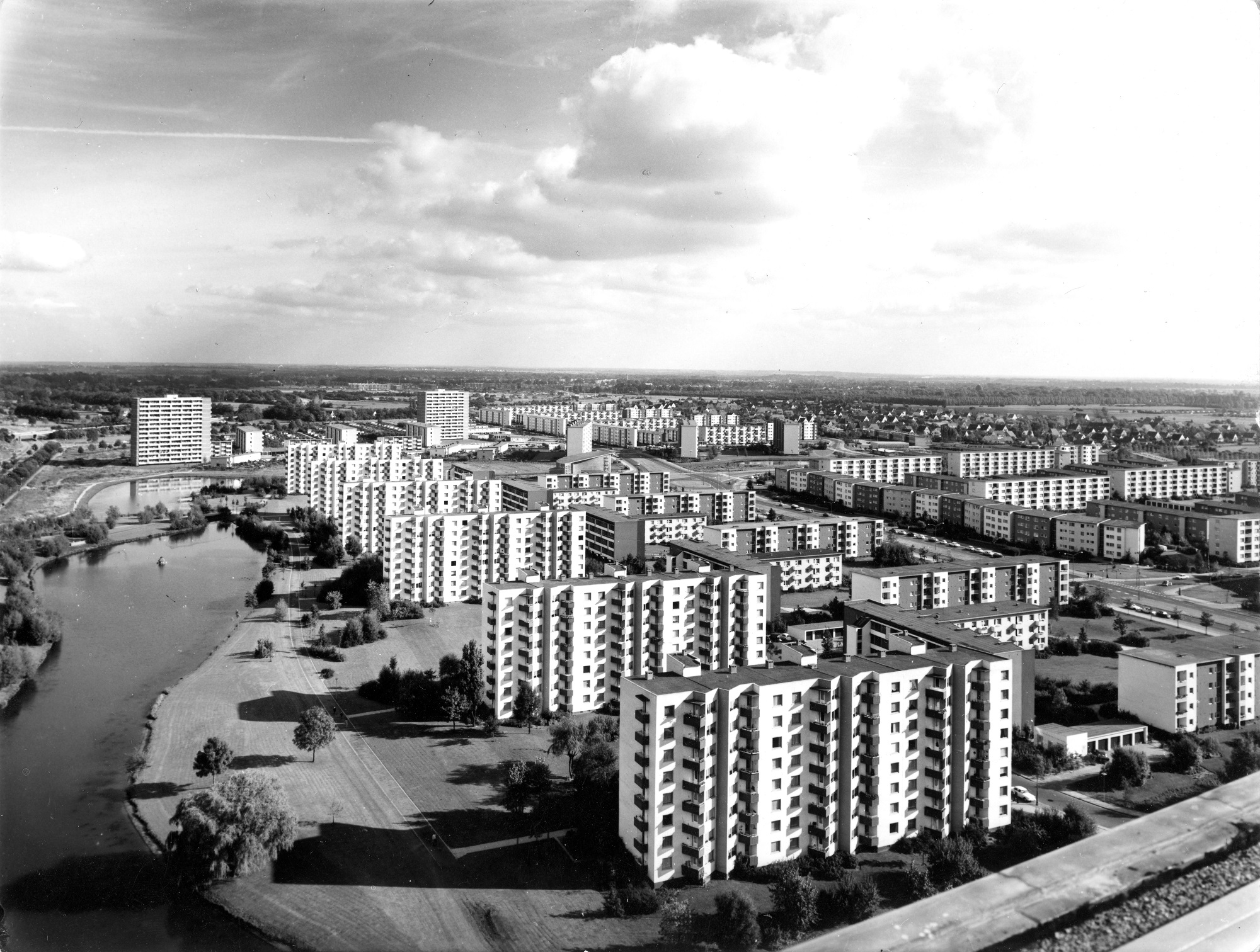 Neue Vahr Bremen, 1975-1962. © Hamburgisches Architekturarchiv