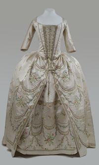 Frauenkleid, Frankreich, um 1780, © Bayerisches Nationalmuseum München