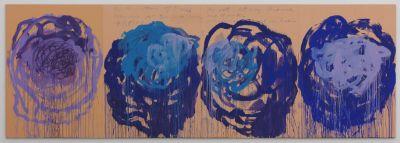 Cy Twombly, Ohne Titel (Rosen), 2008, Udo und Anette Brandhorst Sammlung, Foto: Nicole Wilhelms, Bayerische Staatsgemäldesammlungen, Museum Brandhorst, München © Cy Twombly Foundation