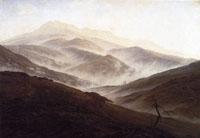 Caspar David Friedrich, Riesengebirgslandschaft mit aufsteigendem Nebel, um 1819/20