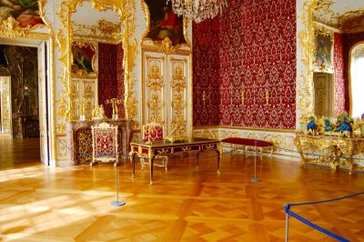 Das Konferenzzimmer der Reichen Zimmer in der Residenz. © Museumspädagogisches Zentrum