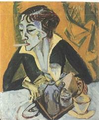 Ernst Ludwig Kirchner, Erna mit Zigarette, 1915. © Bayerische Staatsgemäldesammlungen
