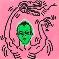 Keith Haring, Ohne Titel (Selbstporträt), 1985. Udo und Anette Brandhorst Sammlung, Foto: Haydar Koyupinar, Bayerische Staatsgemäldesammlungen, München. © Keith Haring Foundation