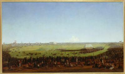 Wilhelm von Kobell, Das erste Pferderennen auf der Theresienwiese 1810, 1811, Foto: Münchner Stadtmuseum