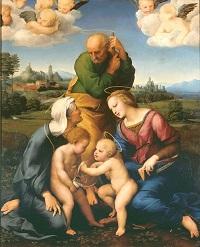 Raphael, Die Heilige Familie aus dem Hause Canigiani, um 1505-06