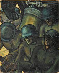 Hannes Kremer, Frontkämpfer und der Tod, ca. 1925. © Bayerisches Armeemuseum