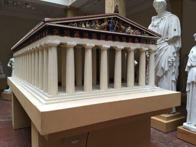 Modell des Parthenon-Tempels auf der Akropolis in Athen, Museum für Abgüsse Klassischer Bildwerke