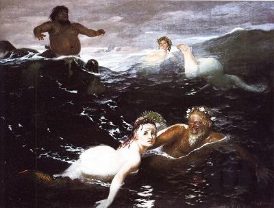 Arnold Böcklin, Im Spiel der Wellen, 1883