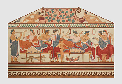 Ausschnitt aus einer Grabkammernachbildung. © Renate Kühling, Staatliche Antikensammlungen