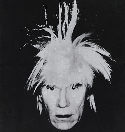 Andy Warhol, Selbstporträt, 1986. Udo und Anette Brandhorst Sammlung, Foto: Haydar Koyupinar, Bayerische Staatsgemäldesammlungen, München © 2019 The Andy Warhol Foundation for the Visual Arts, Inc./Artists Rights Society (ARS), New York