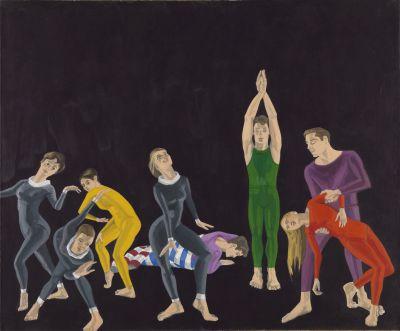 Alex Katz, Paul Taylor Dance Academy, Bayerische Staatsgemäldesammlungen, Museum Brandhorst München. © Alex Katz, VG Bild-Kunst, Bonn 2018.