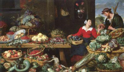 Frans Snyders, Obst- und Gemüseladen, um 1625/30, © Bayerische Staatsgemäldesammlungen - Alte Pinakothek München