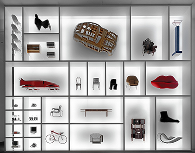 Die Neue Sammlung – The Design Museum, Eingangswand Design Vision. Foto: Rainer Viertlböck