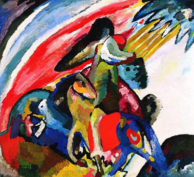 Wassily Kandinsky,  Der Reiter (Improvisation 12). © Bayerische Staatsgemäldesammlungen