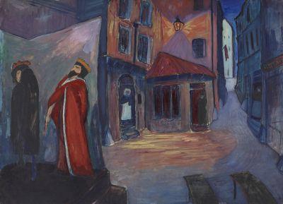 Marianne von Werefkin, In die Nacht hinein, 1910, Städtische Galerie im Lenbachhaus und Kunstbau München, Foto: Lenbachhaus