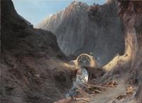 Carl Blechen, Bau der Teufelsbrücke, um 1830-32