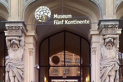 Außenansicht des Museums Fünf Kontinente