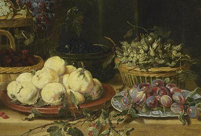 Frans Snyders, Obst- und Gemüseladen, um 1625-30 (Ausschnitt)