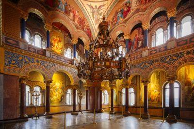 Schloss Neuschwanstein, Thronsaal, 1881–1886, Julius Hofmann. Foto: Ulrike Myrzik © Architekturmuseum der TU München