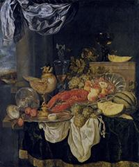 Abraham van Beyeren, Großes Stillleben mit Hummer, 1620. © Bayerische Staatsgemäldesammlungen