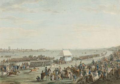 Peter Heß, Das Pferde-Rennen bey der Vermählungs Feyer, 1810. © Münchner Stadtmuseum