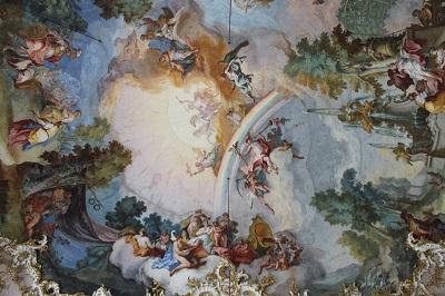 Schloss Nymphenburg, Deckenfresko im Steinernen Saal